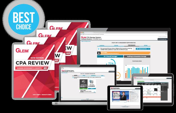 gleim cpa software online course