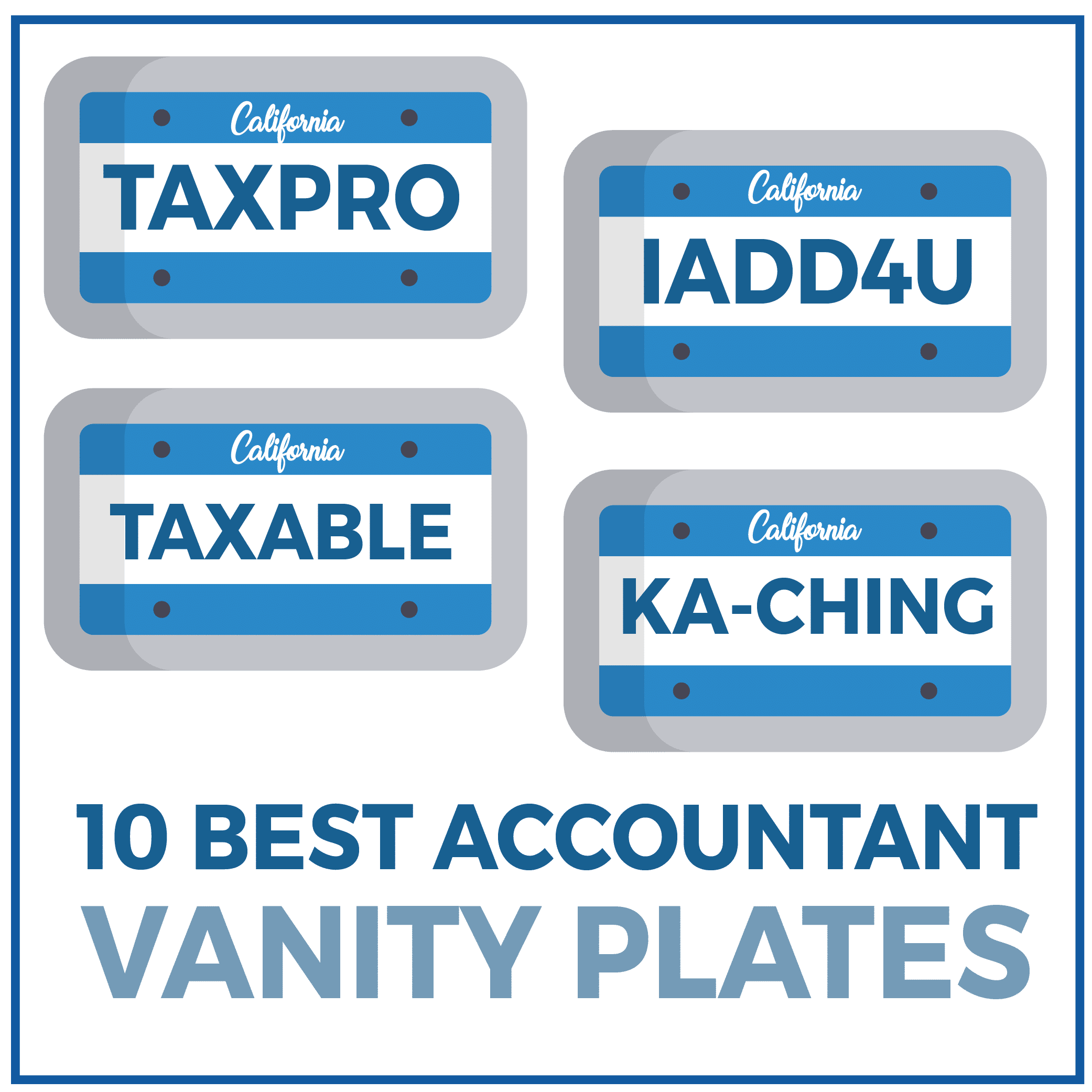 10 Best Accountant Vanity Plates