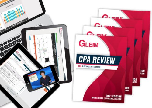gleim cpa test bank and course